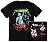 Metallica - Mens And Justice For All T-Shirt - Medium Black