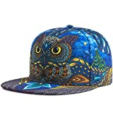 KUYOU Women's Hip-Hop Trucker Hat Baseball Cap (Owl)