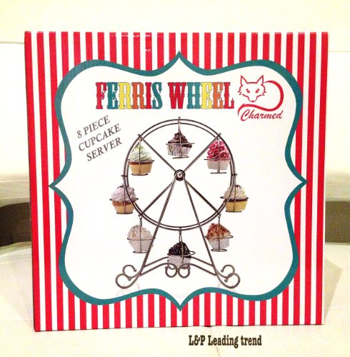 Charmed Ferris Wheel Cupcake Stand for Carnival and Circus Theme -