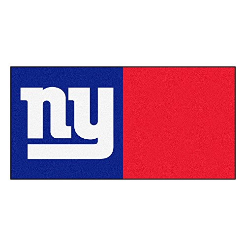 (FANMATS NFL New York Giants Nylon Face Team Carpet Tiles)