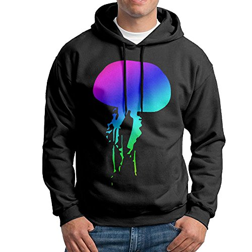 Men's Jellyfish Rainbow Cotton Pullover Tops Cozy Sport Outwear by ZW&LC