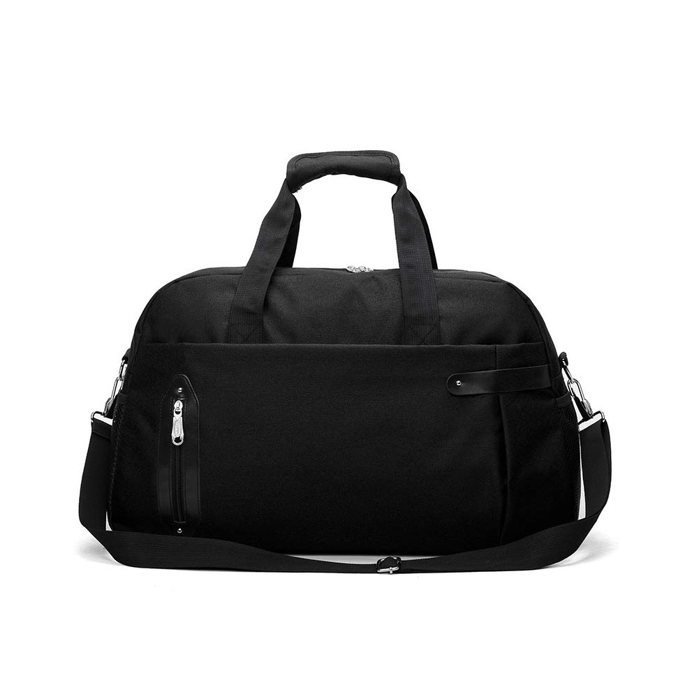 Black Foldable Travel Duffles Bag Sports Gym Bag Women & Men Water Resistant and Lightweight Including