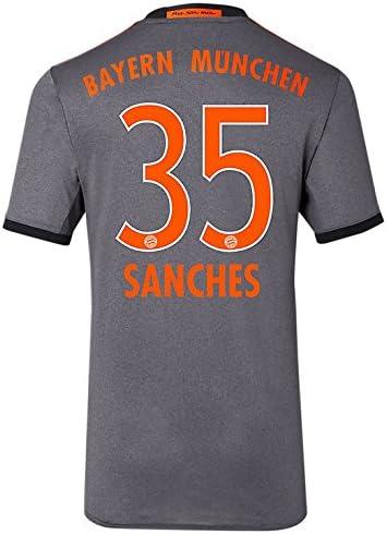 Sanches 35 XL adidas Herren Fc Bayern München Auswärtstrikot Replica