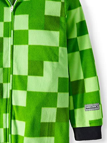 80a7ab02 Minecraft Creeper Boys Union Suit Costume Pajamas,Green,Medium 8 ...