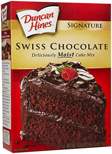 Duncan Hines Signature Moist Cake Mix  Swiss Chocolate  165 oz