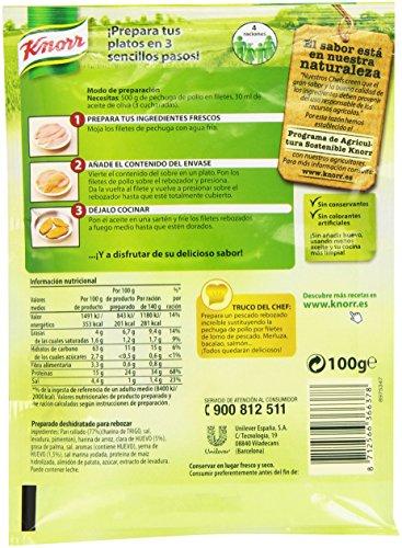 Knorr - Rebozado Pechugas, 100 g, 1 unidad: Amazon.es ...