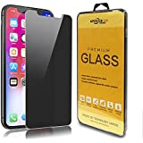 IPECKS3D Screen Protector for iPhone X 2017/2018 iPhone Xs iPhone 10 Privacy Tempered Glass 2Way Peeping Film 5.8 inch Easy to Install