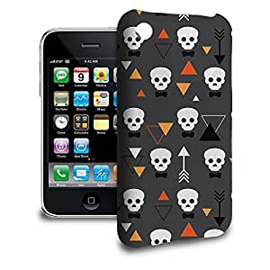 Phone Case For Apple iPhone 3/3GS - Geometric Skulls Back Wrap-Around