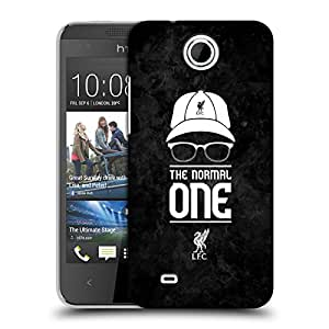 Official Liverpool Football Club Normal Black Grunge Klopp Icons Hard Back Case for HTC Desire 300 / Zara mini