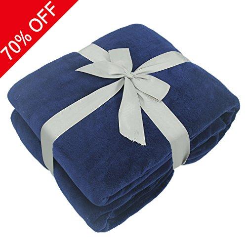 Coral Fleece Blanket, Somewhere Amazingly Comfy Soft Blanket,Cozy Elegant Blanket and Modern blanket,King Blanket, Couch, Sofa Blankt-King, Blue (Sofa $300)