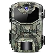 #LightningDeal Victure Trail Game Camera 16MP 1080P Full HD with Waterproof Clamshell Design No Glow Hunting Camera with Night Vision Motion Activated for Wildlife Watching