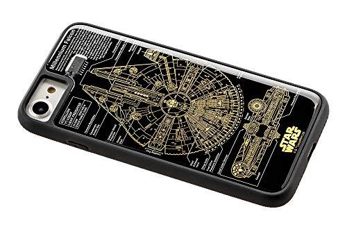 スター・ウォーズ FLASH M-FALCON 基板アート iPhone7/8ケース 黒の商品画像
