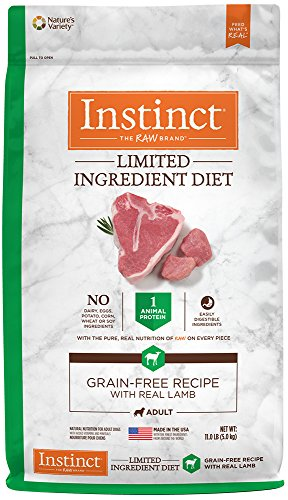 Instinct Limited Ingredient Diet Grain Free Recipe with Real Lamb Natural Dry Dog Food by Nature's Variety, 11 lb. Bag