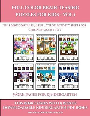 Work Pages for Kindergarten (Full color brain teasing ...