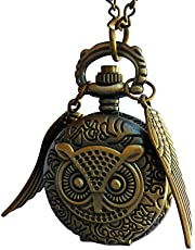 sTEampunk oWL flying magical watch necklace in GIFT box by umbrellalaboratory