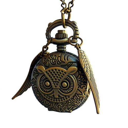 sTEampunk oWL flying magical watch necklace