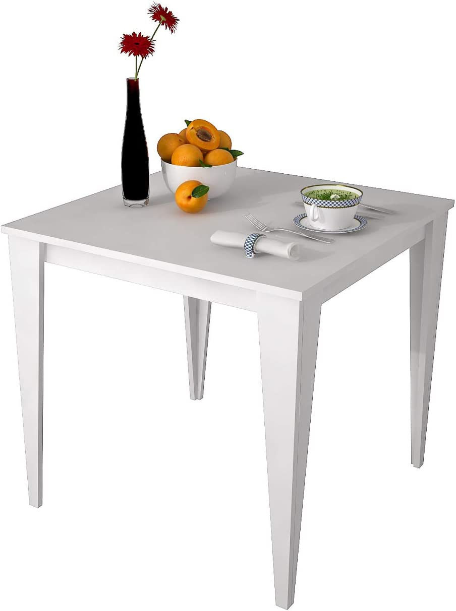 HOMENSE - Mesa de Cocina Yenice Cuadrada (80 x 80 cm), Color ...
