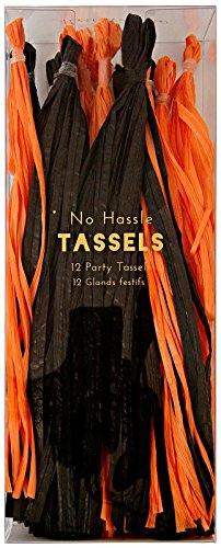 Meri Meri 45-1880 Halloween No Hassle Tassels Novelty -