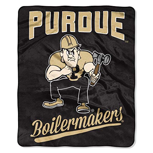 The Northwest Company NCAA Purdue Boilermakers Unisex Alumniraschel Blanket, Team Colors, 50x60 Inches