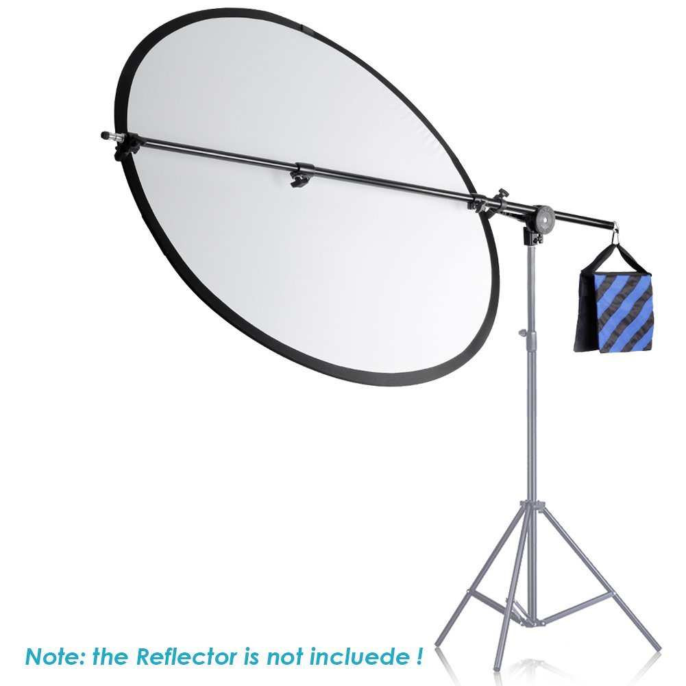 Neewer 30''-75''/76-190cm Swivel Head Aluminum Alloy 1/4'' Thread Mount Boom Arm Holder with Sandbag for Reflector,LED Video Light,Strobe Light,Monolight and Other Photographic Equipment by Neewer (Image #3)