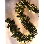 9-x-12-Mountain-Fir-Pine-Garland-Pre-Lit-with-100-Clear-Lights-120v-Plug-in-IndoorOutdoor-Mimics-Texture-and-Color-of-Natural-Freshly-Cut-Needles-Adorned-with-Select-Mini-Pine-Cones