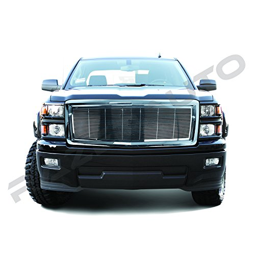 Putco 1500 Billet Grille (Razer Auto Chrome Billet Grille Complete Factory Replacement Grille Shell for 2014-2015 Chevy Silverado 1500)