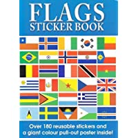 (1, Original Packaging) - Flags of the World Sticker Book and World Poster