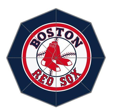 Pop Art Cute Red Sox Pattern Custom Foldable Sun Rain Windproof Umbrella