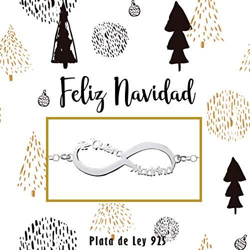 Pulsera Infinito Te Quiero Madrina Plata de Ley - Regalos de Navidad para madrinas