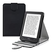 kwmobile Elegant synthetic leather case for the Kobo Glo HD (N437) / Touch 2.0 with practical stand function in black