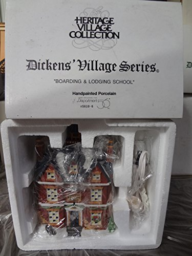 Department 56 House BOARDING & LODGING SCHOOL Porcelain Dickens Village Christmas Carol 58092