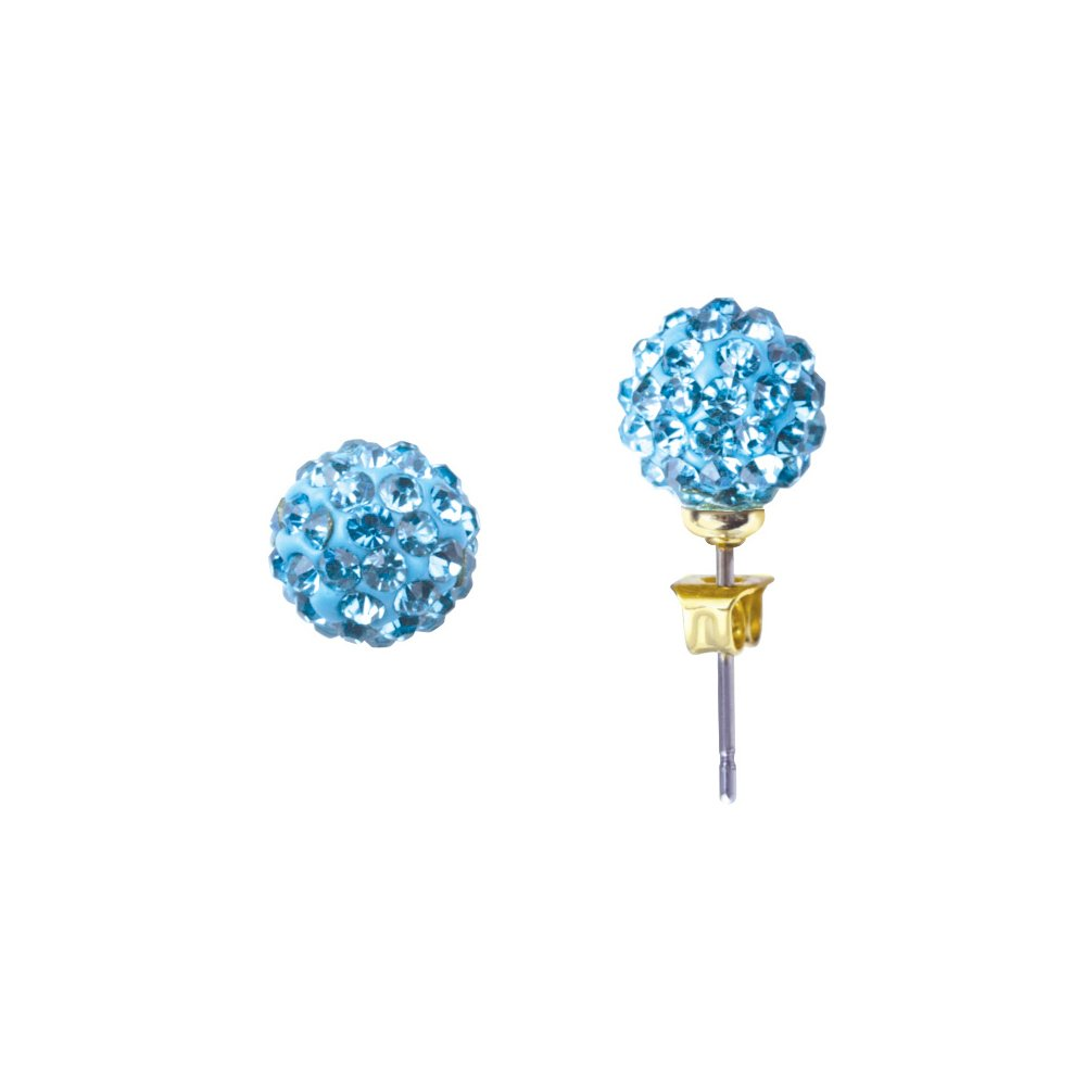 Girl Nation Dazzle Girl Collection Crystal Adorned Ball Group in Blue Belle