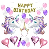 Arts & Crafts : Unicorn Balloons Birthday Party Supplies for Kids Birthday Decorations, Baby Shower Decorations