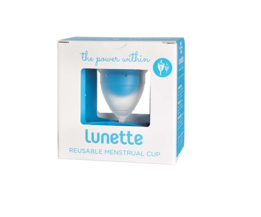 Lunette Menstrual Cup - Clear - Model 1 for Light to Medium Menstruation - Natural Alternative for Tampons and Sanitary Napkins