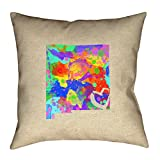 ArtVerse Katelyn Smith New Mexico Love Watercolor Pillow