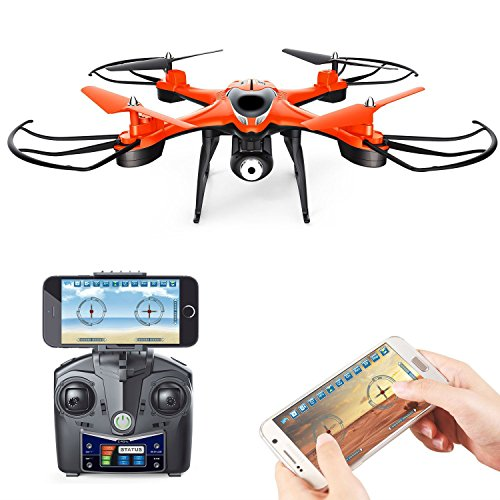SkyCo Rc Wifi Fpv Wifi Drone Quadcopter with HD Camera Live Video One-Key-Return RFT Headless Helicopter Altitude Hold