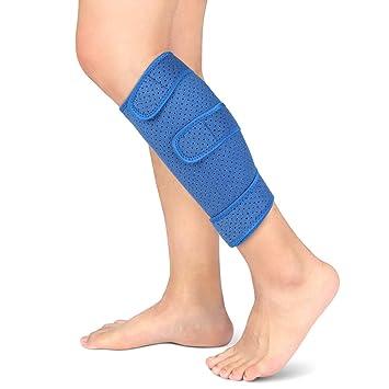 9b6e971e9d Calf Brace, Shin Splint Support Lower Leg Compression Wrap with Adjustable  Three Anti-Slip