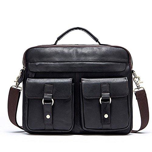 WWUX Retro Herrentaschen Ledertaschen Umhängetaschen Unisex Casual Travel Student Taschen Aktentaschen C 7SEqJUb