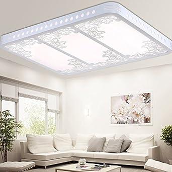 Ceiling Light Bright Ceiling Light For Bedroom : Rectangular Led Wooden Ceiling  Light Modern Living Room