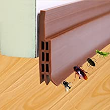HworkNlife Under Door Draft Stoppers Bottom Seal Strip Under Door Sweep Self-Adhesive Silicone Weather Stripping Soundproof and Dust