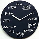 "Pop Quiz Clock,Math Wall Clock-Each Hour Marked By a Simple Math Equation, Mathematics Teacher Gift, Wall Clock for Classroom, Home, Office-12"" Inch"