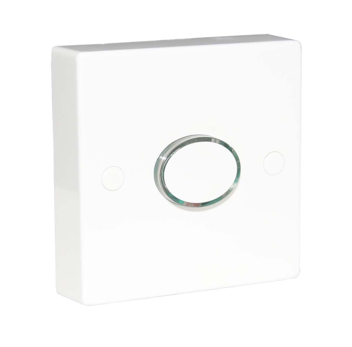 Interruptor de temporizador iluminado de 6 A tiempo de espera de retardo de energ/ía 12 segundos a 12 minutos 2 cables ajustables