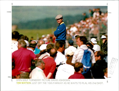 Turnberry Golf - Vintage photo of Tom Watson, at OPEN GOLF TURNBERRY
