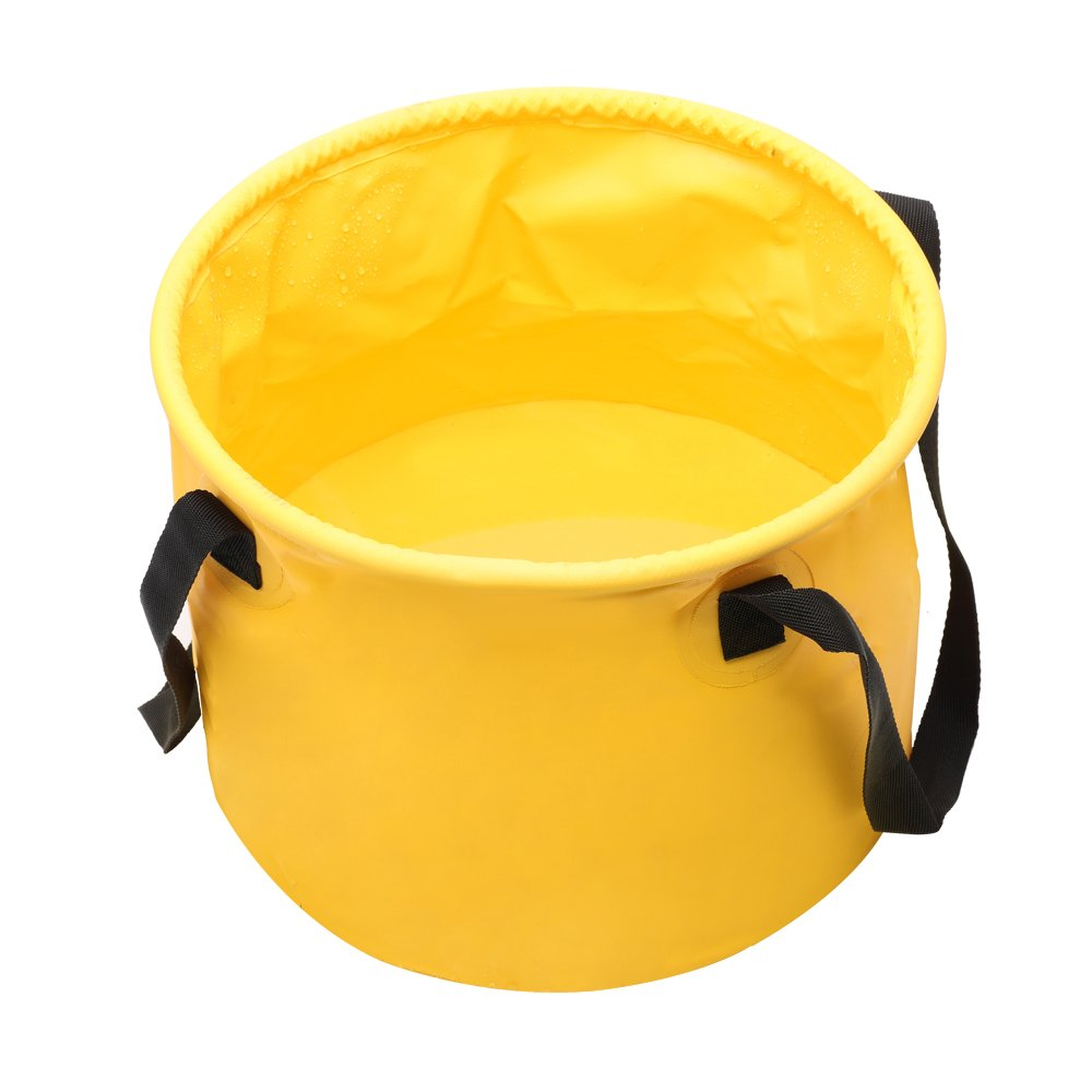 Donyer Power Collapsible Bucket Outdoor Camping Foldable Water Container Portable Folding Wash Pail for Beach, Travel, Camping, Fishing, Gardening, Car Washing Yellow 20L