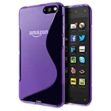 Amazon Fire Phone Case, Cimo [Wave] Premium Slim TPU Flexible Soft Case for Amazon Fire Phone (2014) – Purple