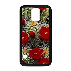 Beautiful Cactus Flower Design Desert Cactus Sunset Samsung Galaxy S5 TPU (Laser Technology) Case, Cell Phone Cover