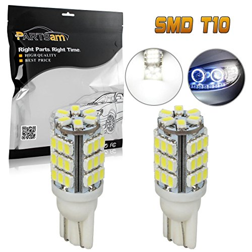 (Partsam 912 921 T10 42 SMD LED White Trunk Cargo Lights Bulbs 2PCS)