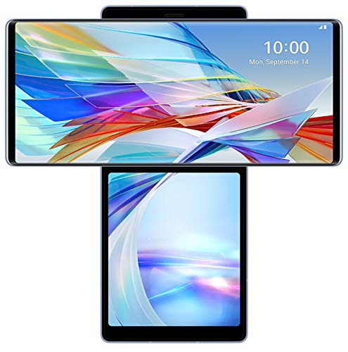 LG Wing (Illusion Sky, 128 GB) (8 GB RAM)- Versatile Multi-Screen, Charger Included