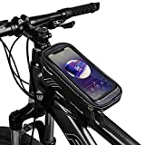 COPOZZ Sport Bicycle Bike Handlebar Bag, Waterproof Bike Front Frame Top Tube Cycling Storage Bag with Touch Screen, Fits Cellphone Below 6.5 Inch