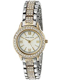 Womens AK/1493MPTT Swarovski Crystal Accented Two-Tone Bracelet Watch